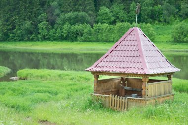 Old Russian wooden well