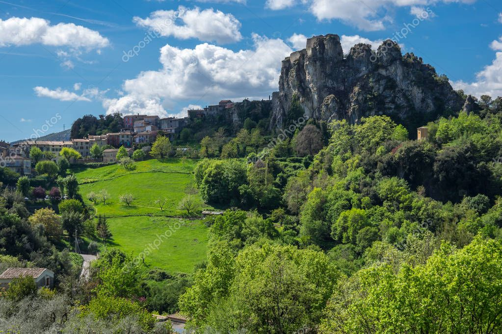 Village Gilette in France