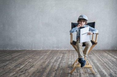 """Картина, постер, плакат, фотообои """"продюсер со сценарием """", артикул 172354232"""