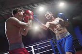 Photo Fighting in a boxing ring