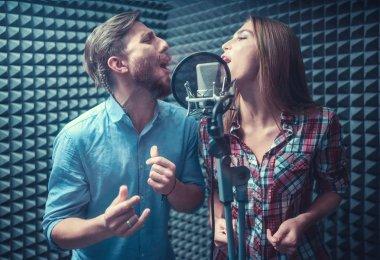 Singing people indoors