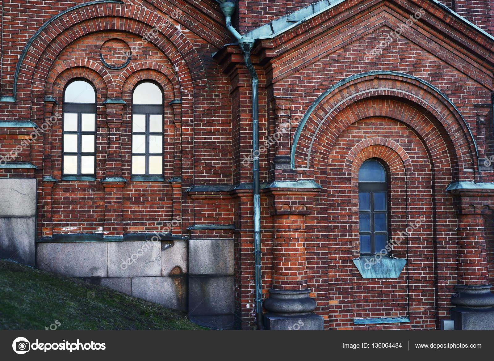 ancien mur de brique avec faux cintre — Photographie ollikainen ...