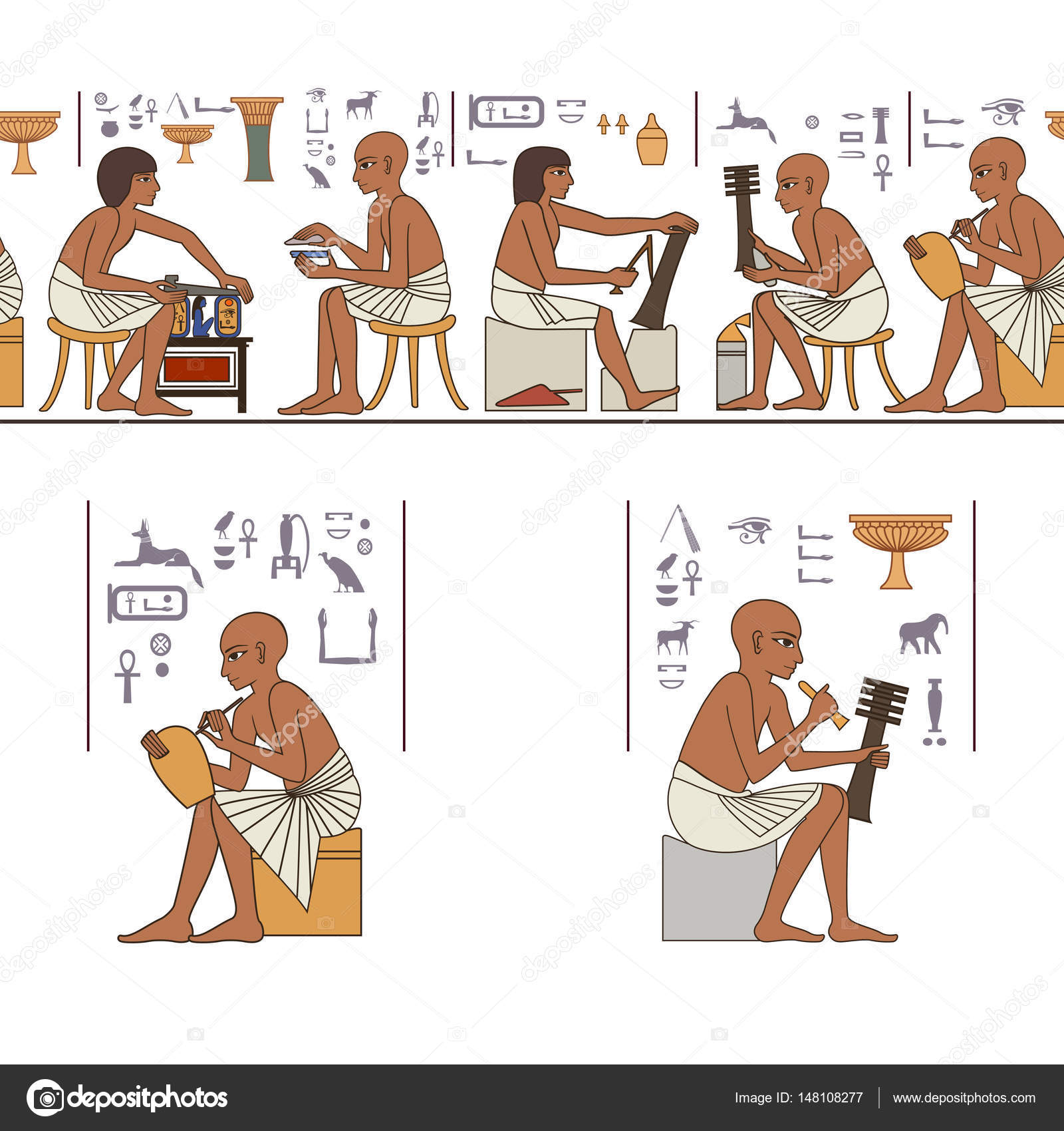 Murals with ancient egypt scene egyptian hieroglyph stock murals with ancient egypt scene egyptian hieroglyph stock vector buycottarizona