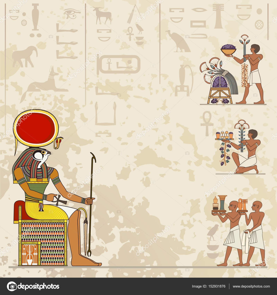 Symbole Et Hiéroglyphe égyptien Image Vectorielle Tan Tan