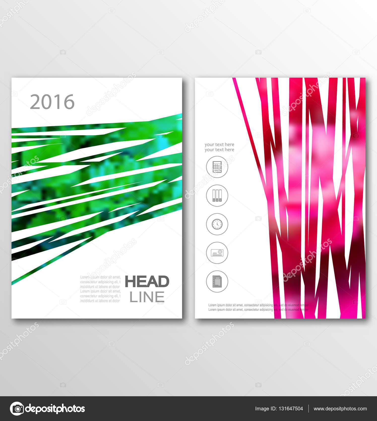 Broschüre Flyer Vorlage A4 Größe Design, Abdeckung der ...