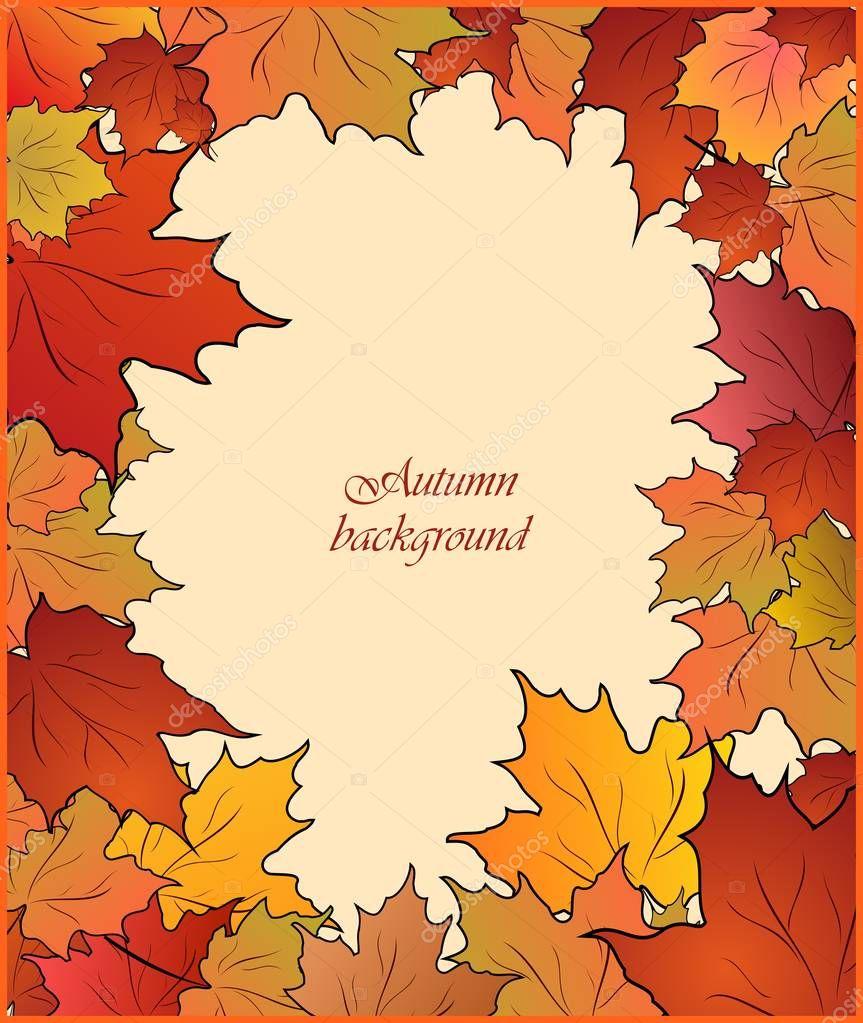 Картинки фото, открытка с днем учителя с кленовыми листьями