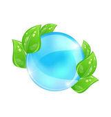 vodní bublina s eco zelené listy