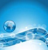 abstrakt wellige Wasser mit Earth-symbol
