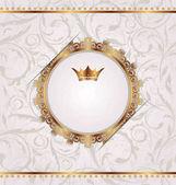 Zlatá vinobraní s heraldická koruna, bezešvé květinová textury