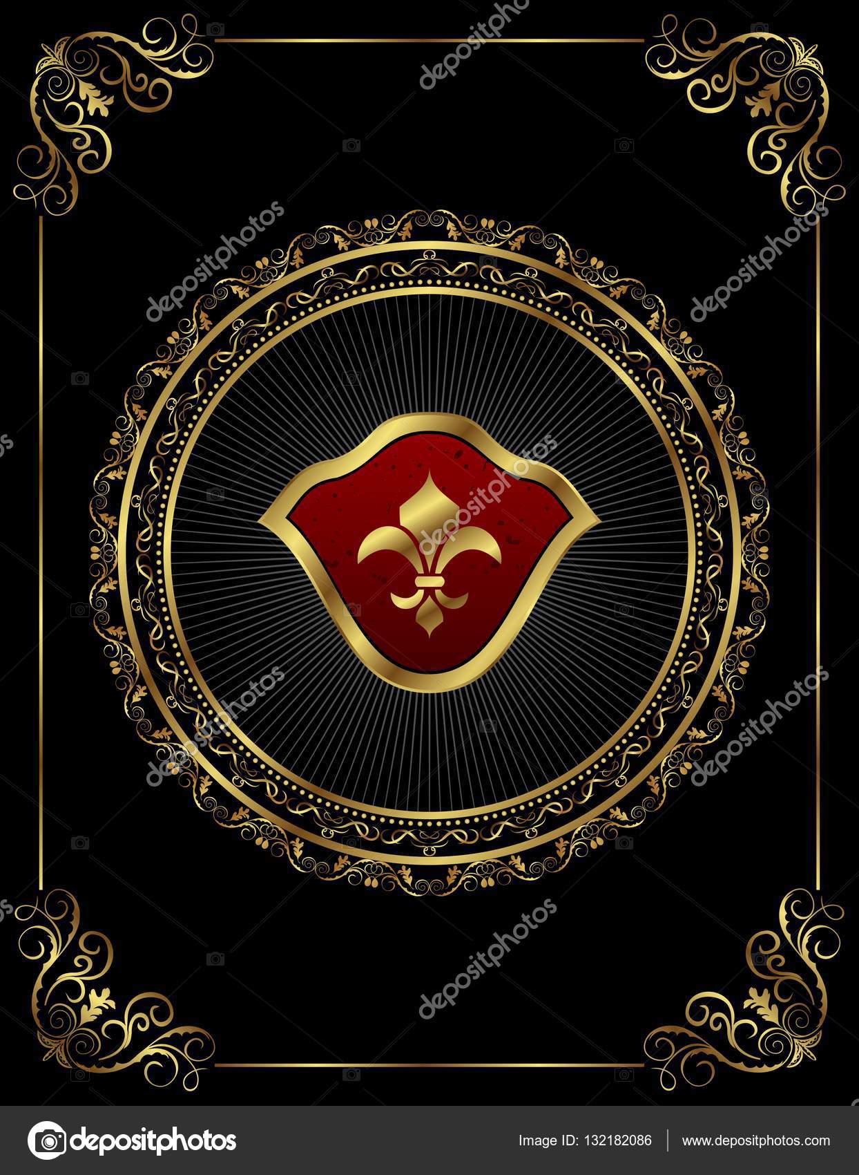 marco vintage con medallón floral — Foto de stock © smeagorl #132182086
