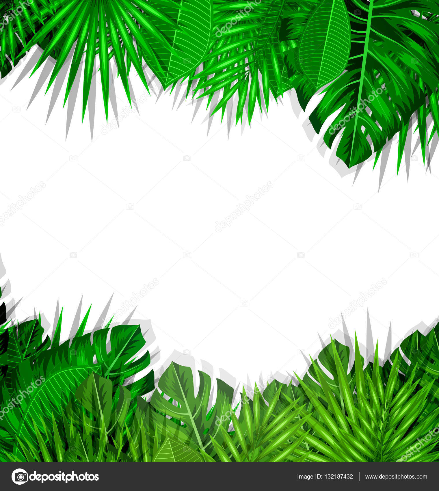 Frame Tropical Leaves Summer Background — Stock Photo © smeagorl ...
