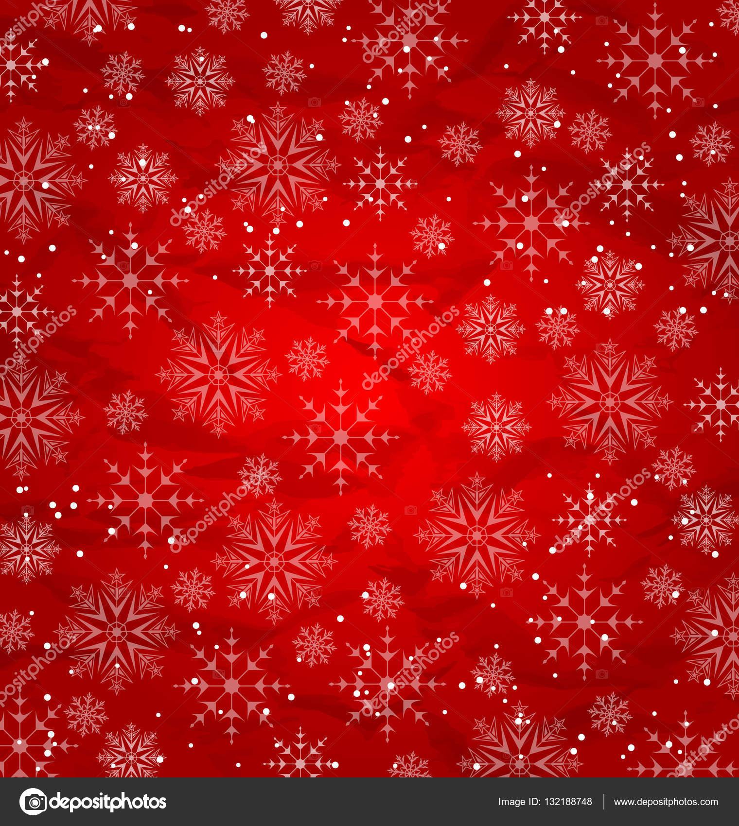 Weihnachten rote Tapete, Schneeflocken-Textur — Stockfoto © smeagorl ...