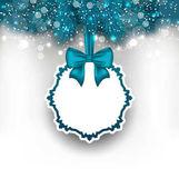 Vánoční přání s stuha a jedlové větve