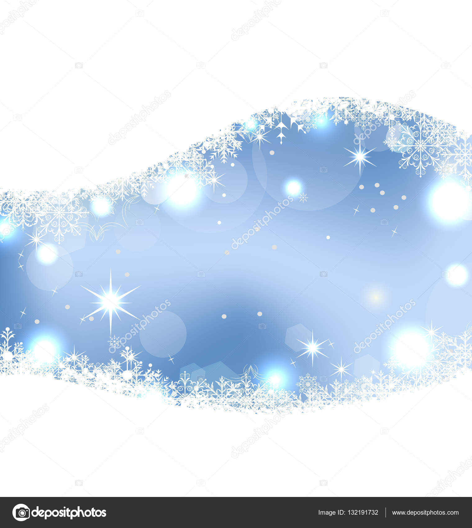 christmas cute wallpaper with sparkle, snowflakes, stars — stock