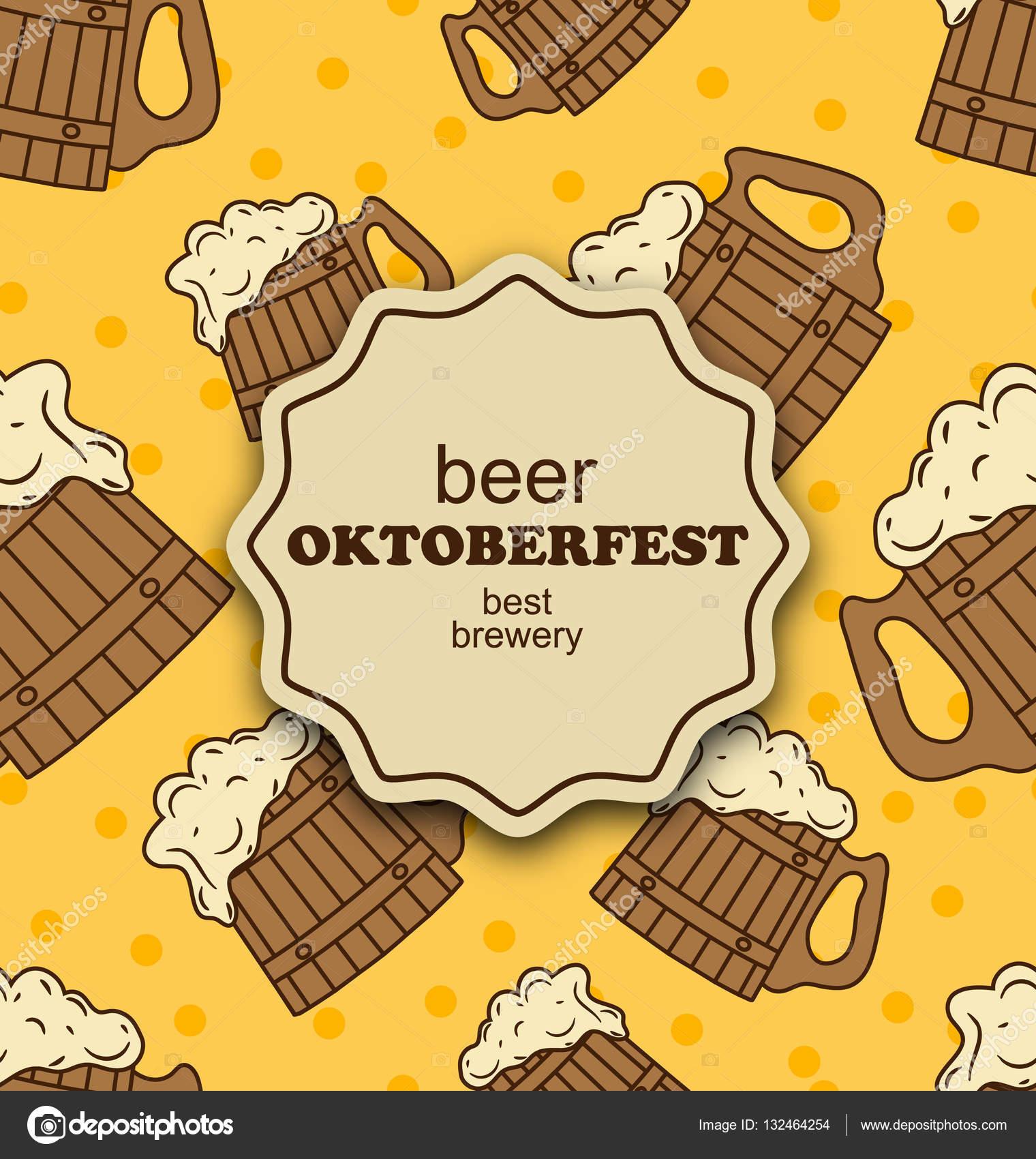 Grußkarte für Oktoberfest Party — Stockfoto © smeagorl #132464254