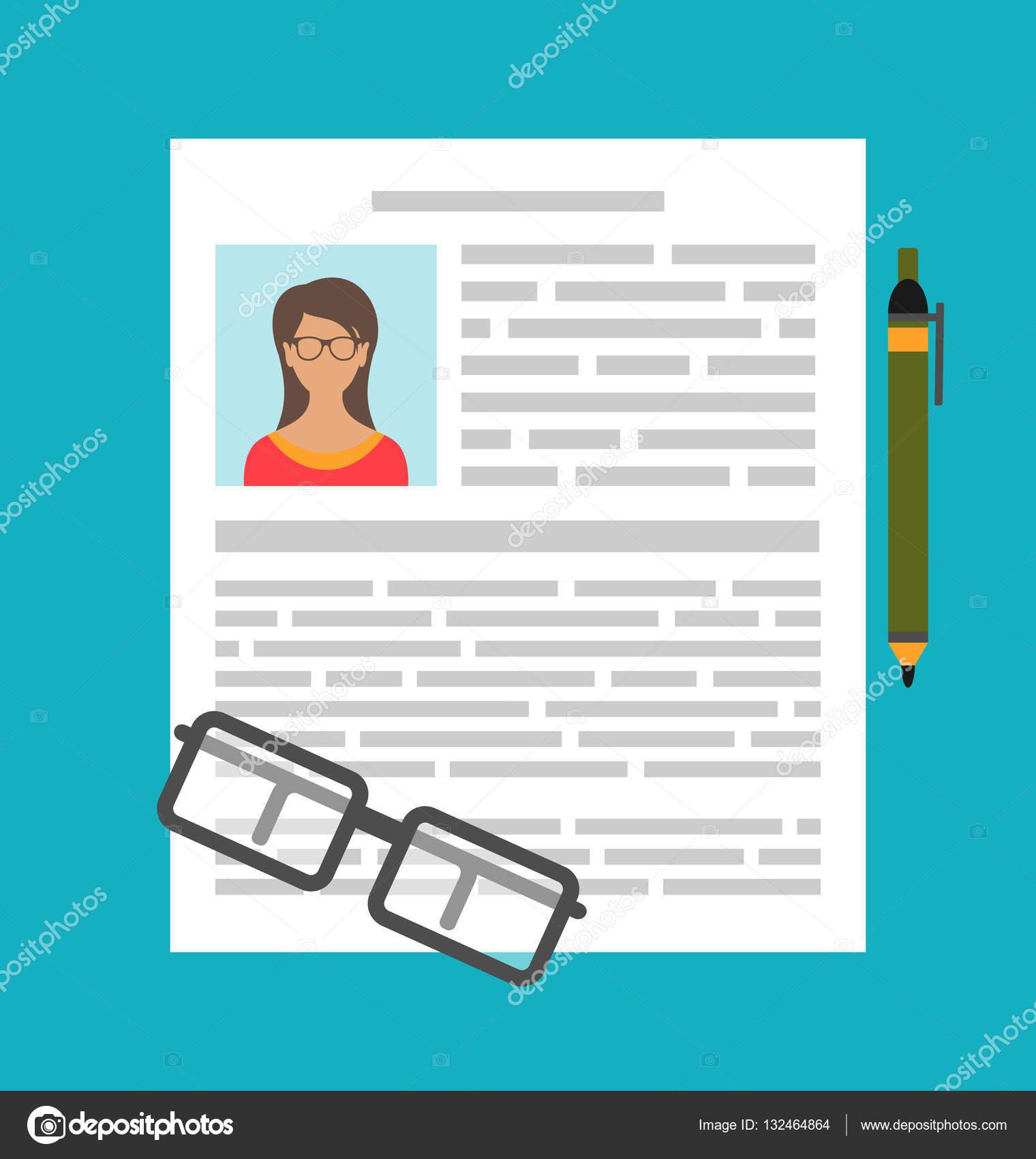 Escribir un curriculum vitae Cv de negocios — Foto de stock ...