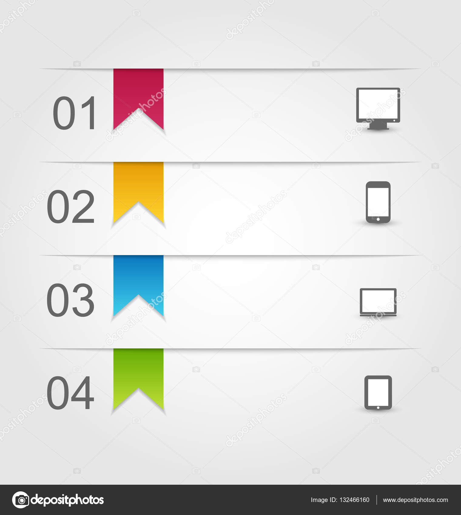 plantilla de diseño infográfico con etiquetas de papel con el ...