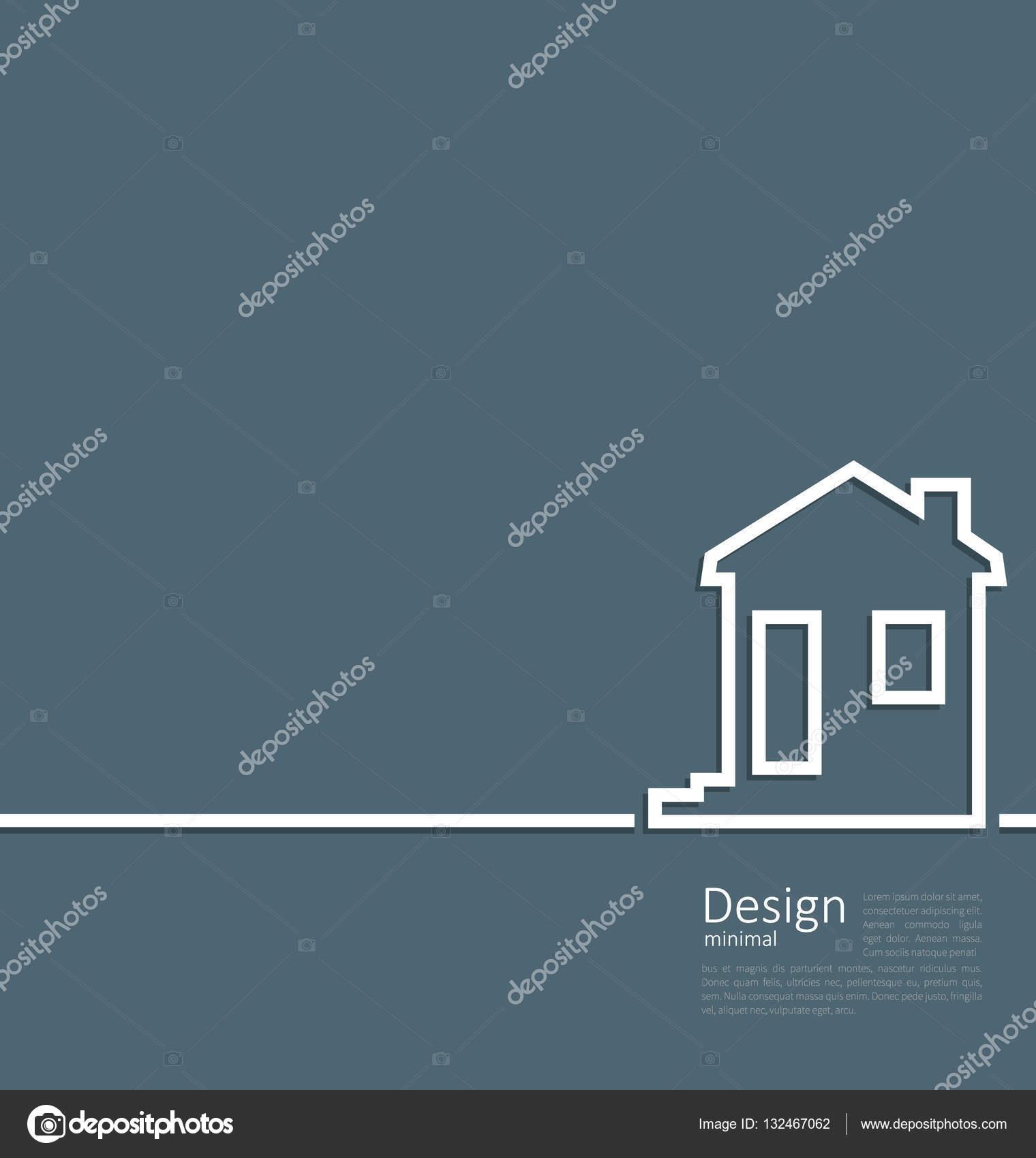 Logotipo de casa de plantilla Web en línea de limpieza mínimo estilo ...