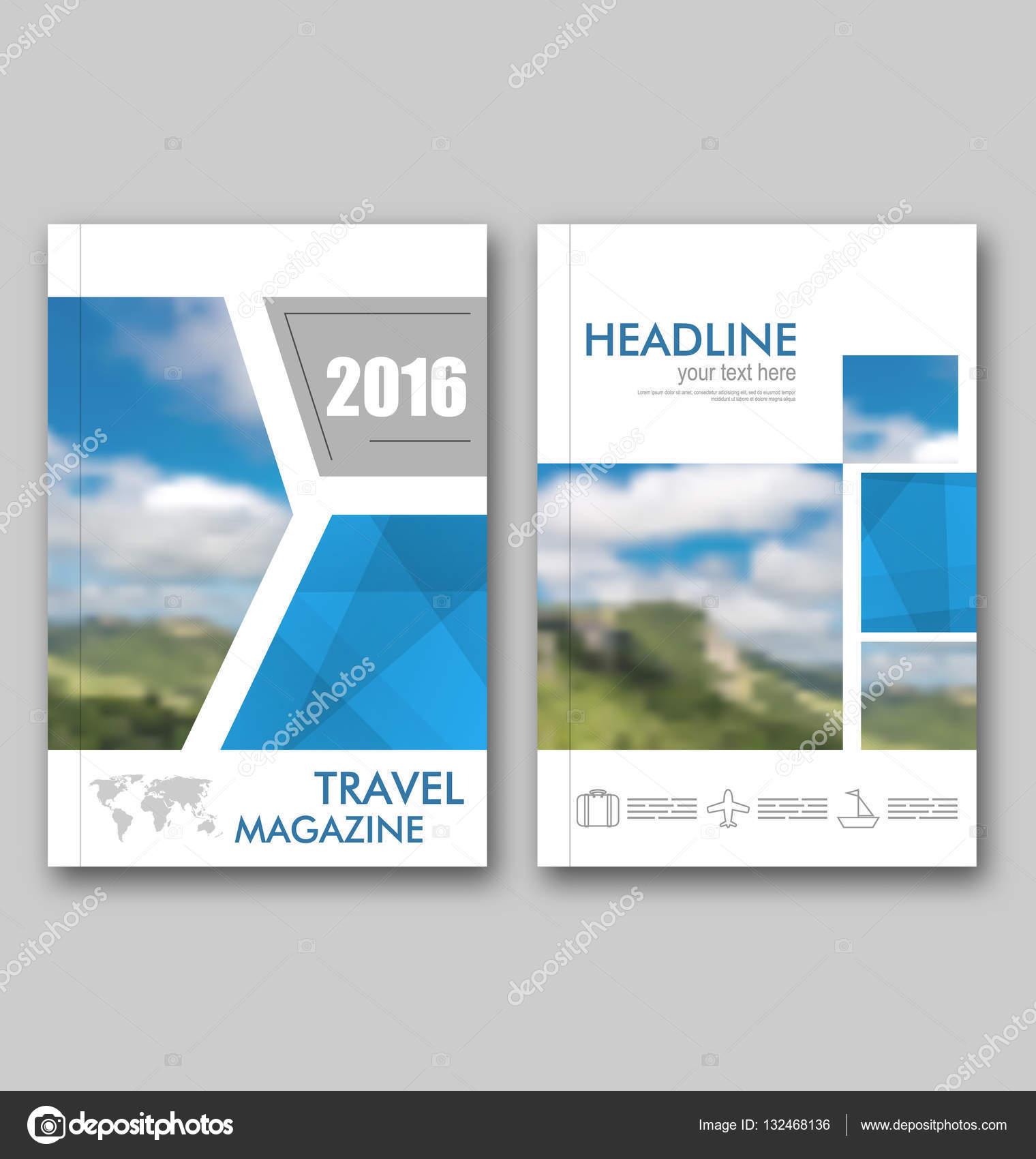 Broş 252 R şablonu Seyahat Dergisi Kapak Tasarım Yıllık