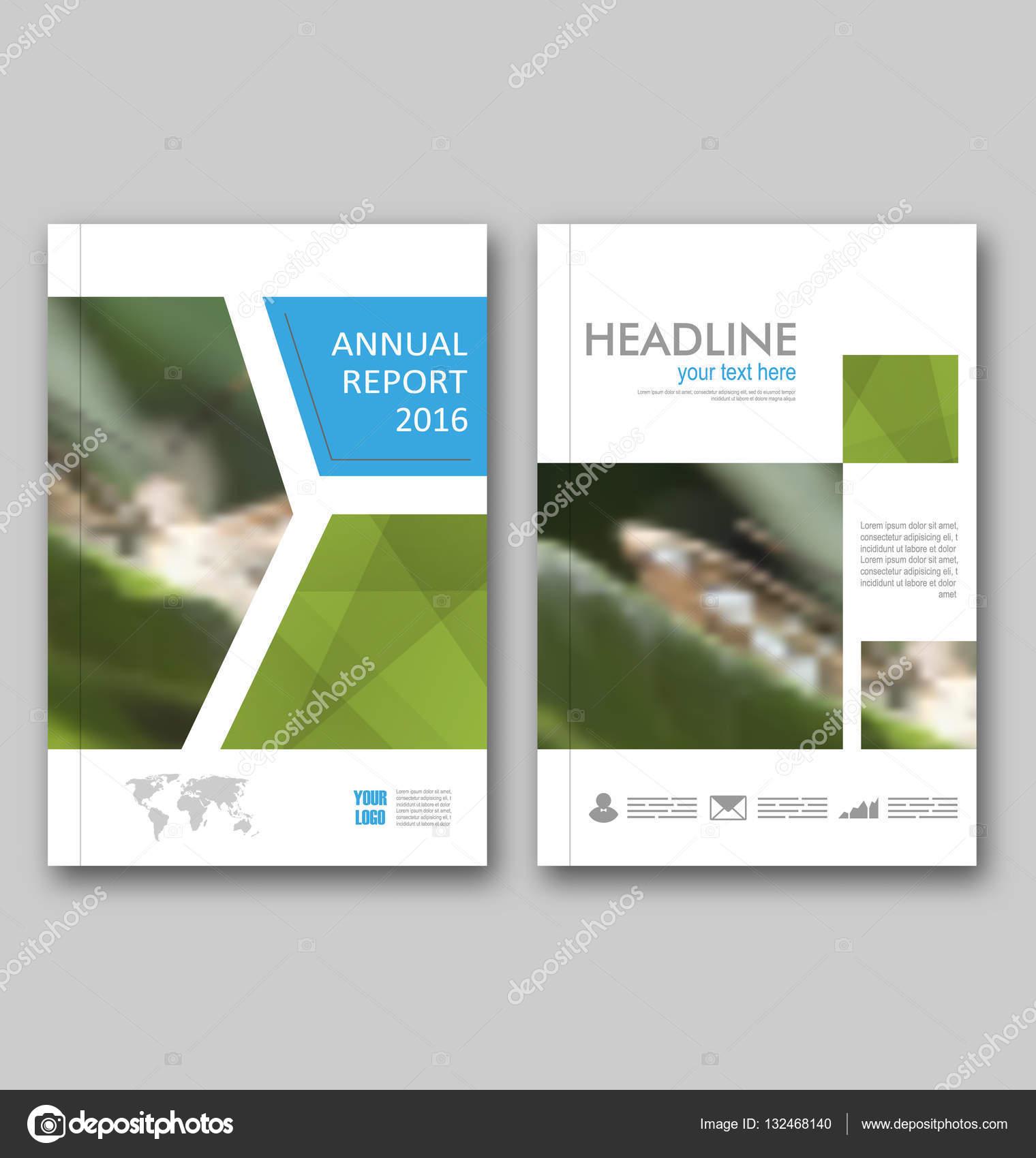 Diseño de plantilla de folleto, informe anual de diseño de la ...