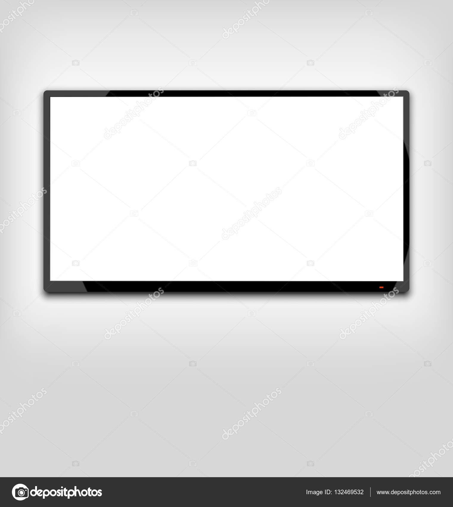 LCD o led tv pantalla colgada en la pared — Fotos de Stock ...