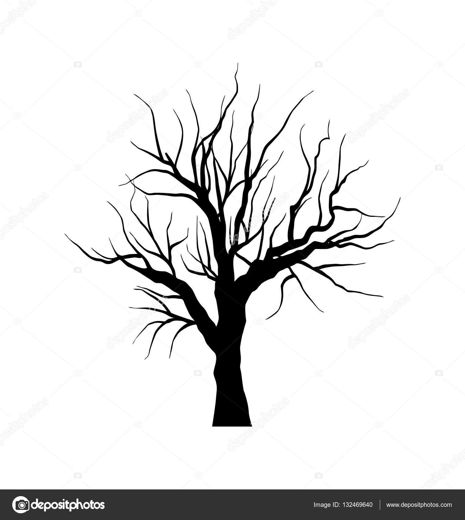 Dibujos Arboles Seco Dibujo De árbol Seco Sin Hojas Aislado