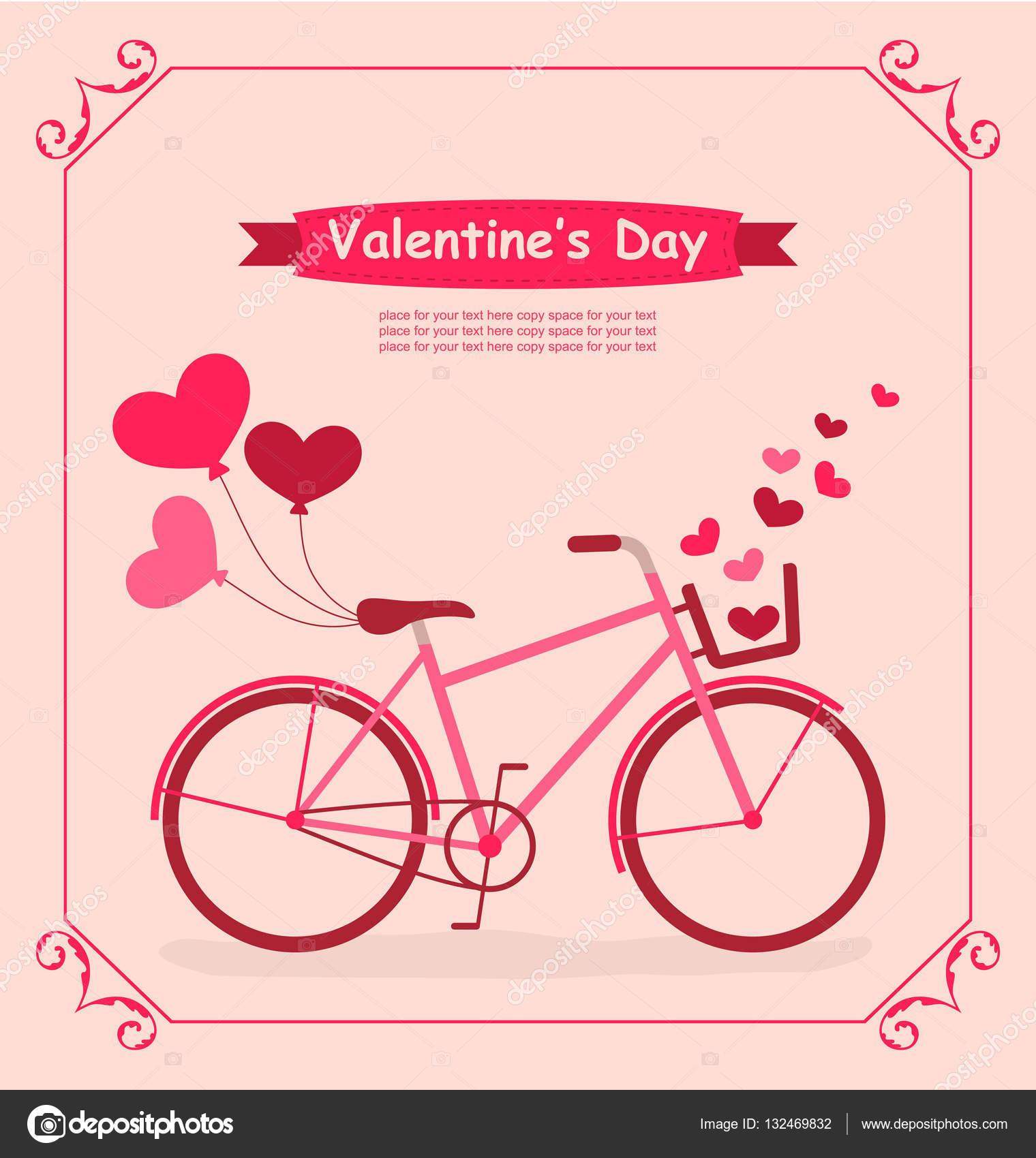romantické přání k narozeninám Kolo s balónky a srdce romantické přání k narozeninám — Stock  romantické přání k narozeninám