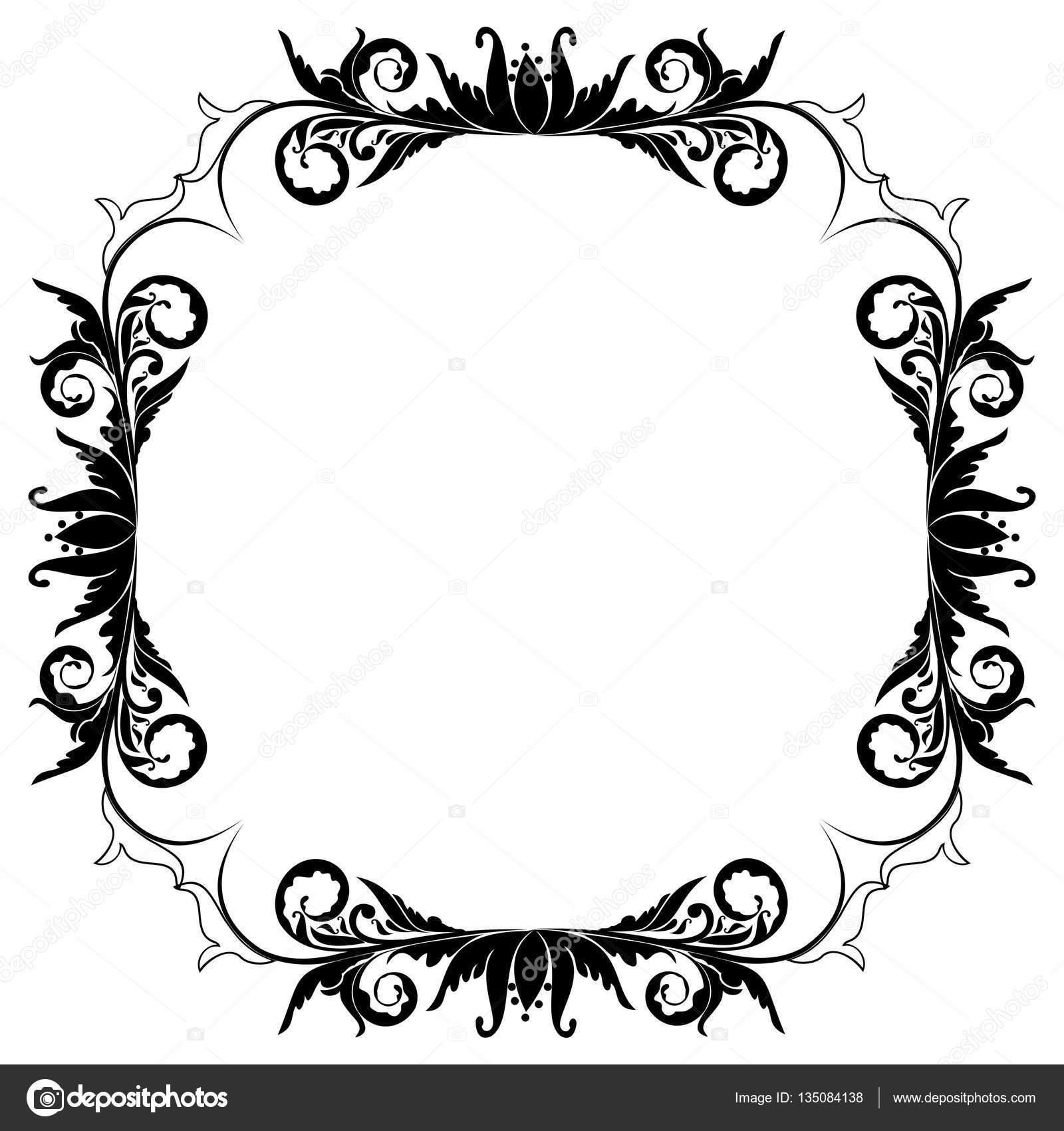 blank floral frame border stock photo smeagorl 135084138