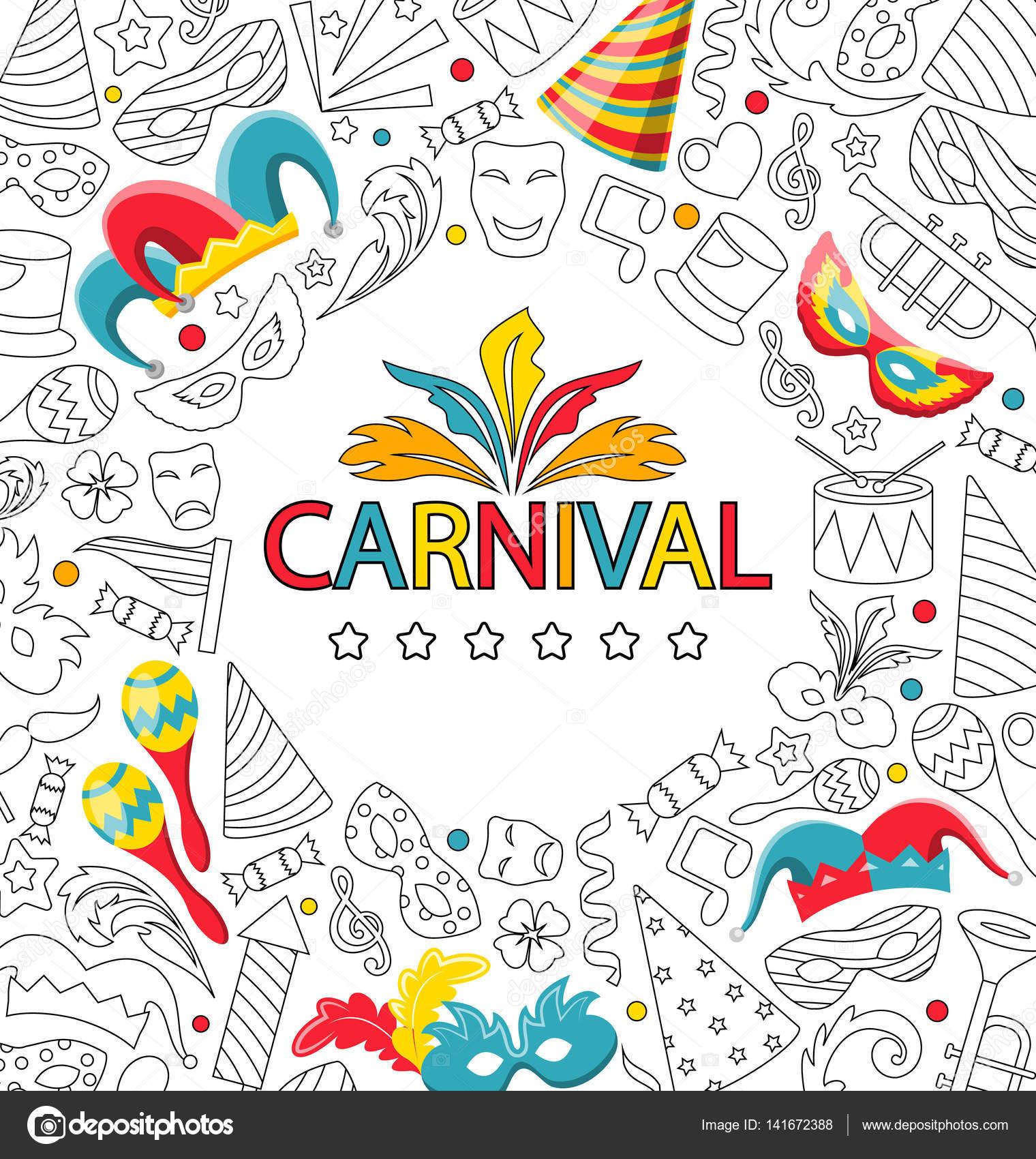 Resultado de imagen de carnaval dibujo