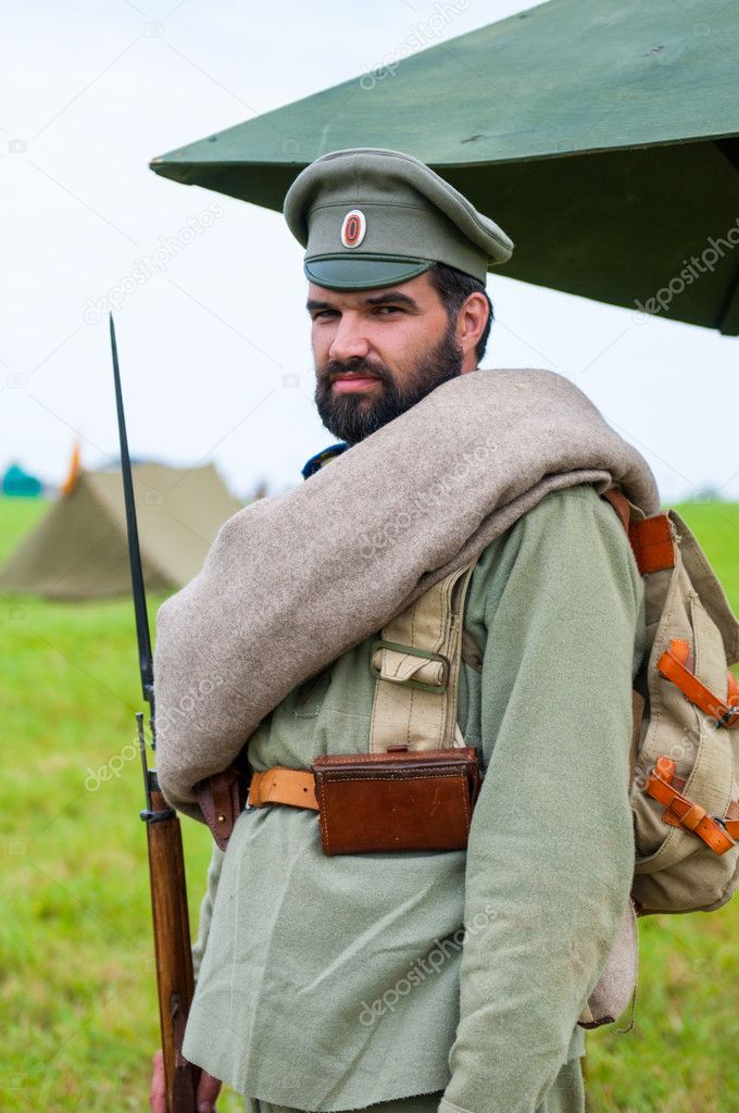 Russian soldier World War I – Stock Editorial Photo © rook76