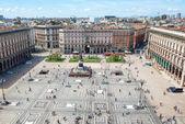 Veduta aerea della Piazza di Milano