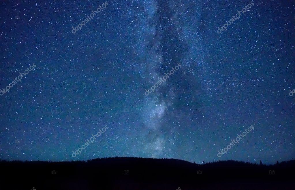 Night dark blue sky