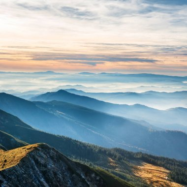 """Картина, постер, плакат, фотообои """"Голубые горы и холмы """", артикул 133073180"""