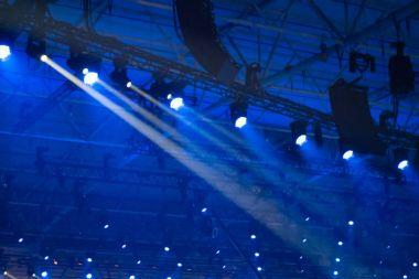 Blue disco lights