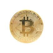 Zlatá bitcoin s logem