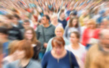Blurred crowd of people