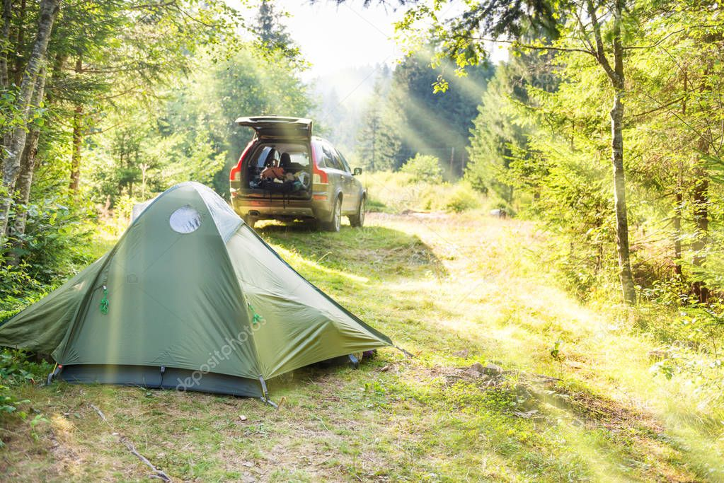Cozy camping with tents