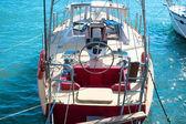 Fotografie Lenkrad auf der yacht