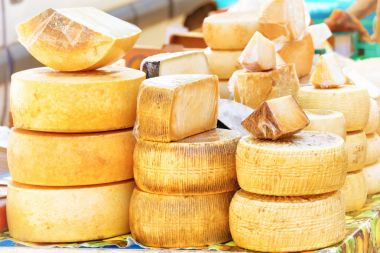 Different sorts of italian cheese