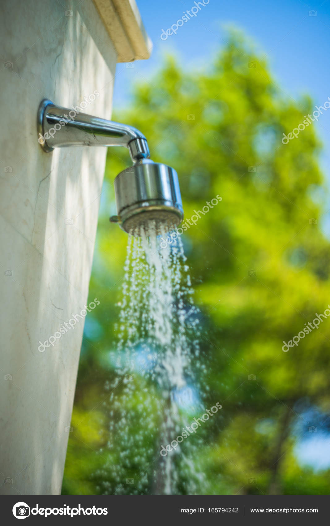 blommor spruta dusch stor ren fitta