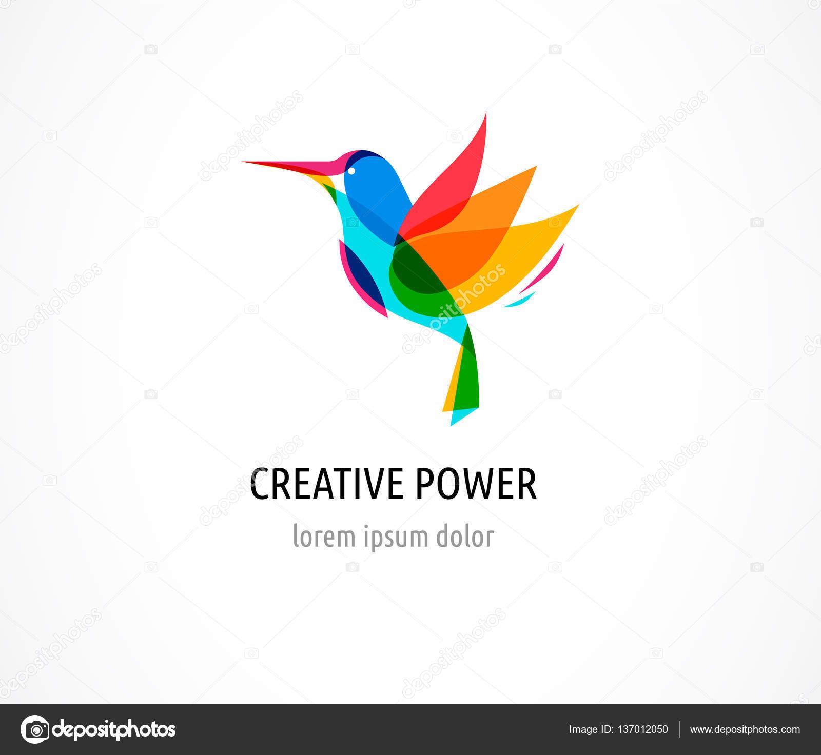 Hummingbird creative digital abstract and bird colorful icon hummingbird creative digital abstract and bird colorful icon stock vector biocorpaavc Images