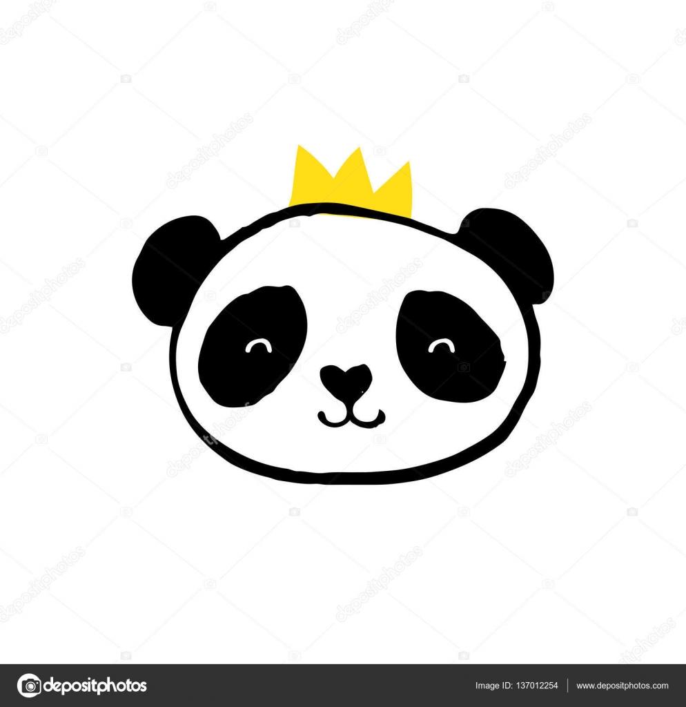чёрно-белые картинки панды