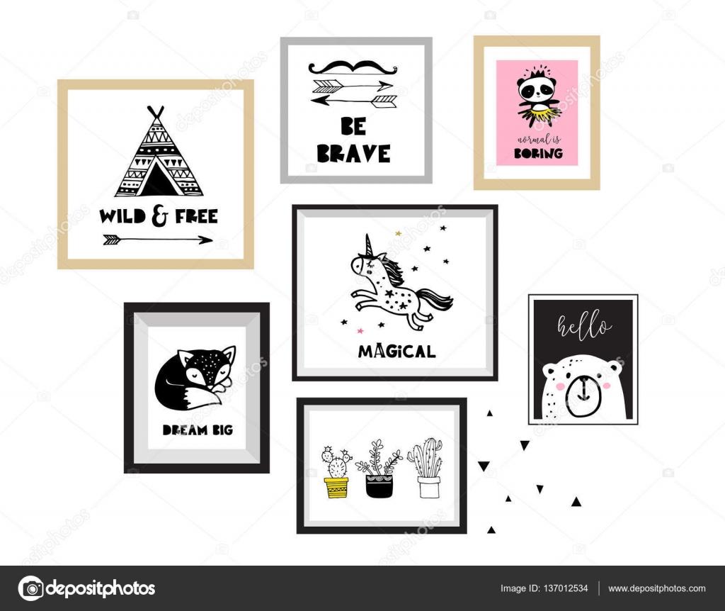 poster fur kinderzimmer, skandinavischen stil, schlichtes design, sauber und hübsch schwarz, Design ideen