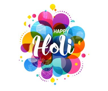 Happy Holi, Indian holiday and festival poster, banner, colorful vector illustration clip art vector