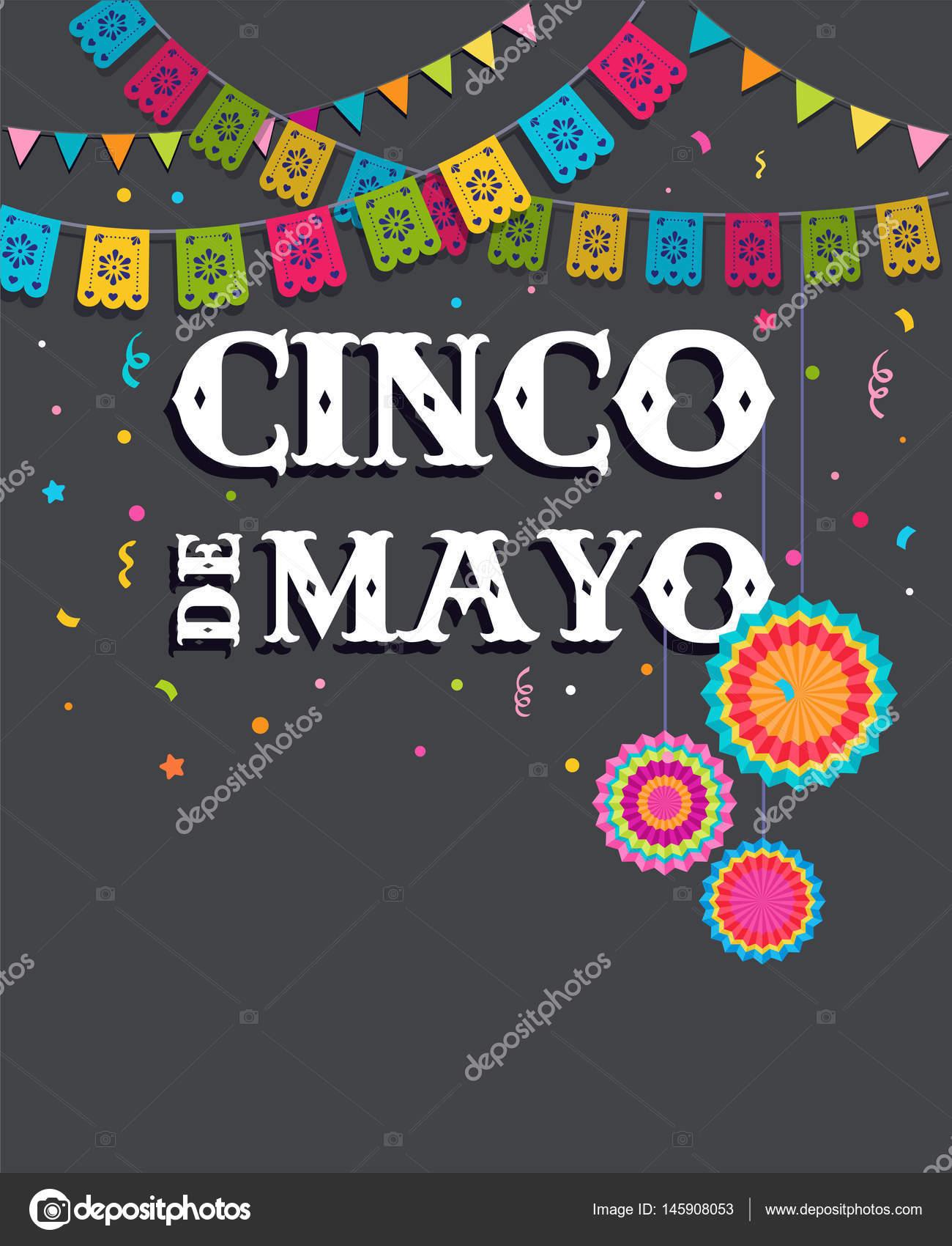 cinco de mayo bandera de fiesta mexicana y diseo de carteles banderas u vector de marish