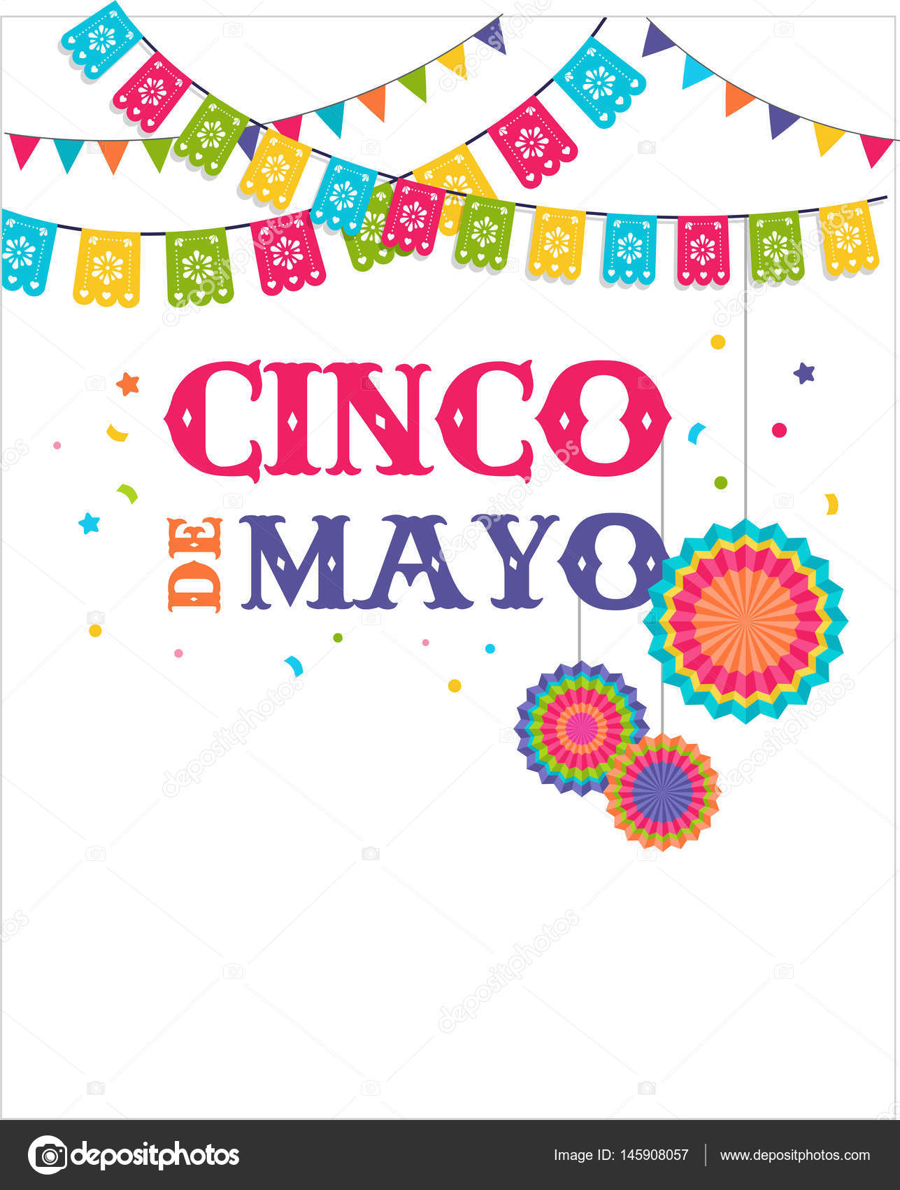 Cinco de mayo mexican fiesta banner and poster design with flags cinco de mayo mexican fiesta banner and poster design with flags decorations vector by marish stopboris Images