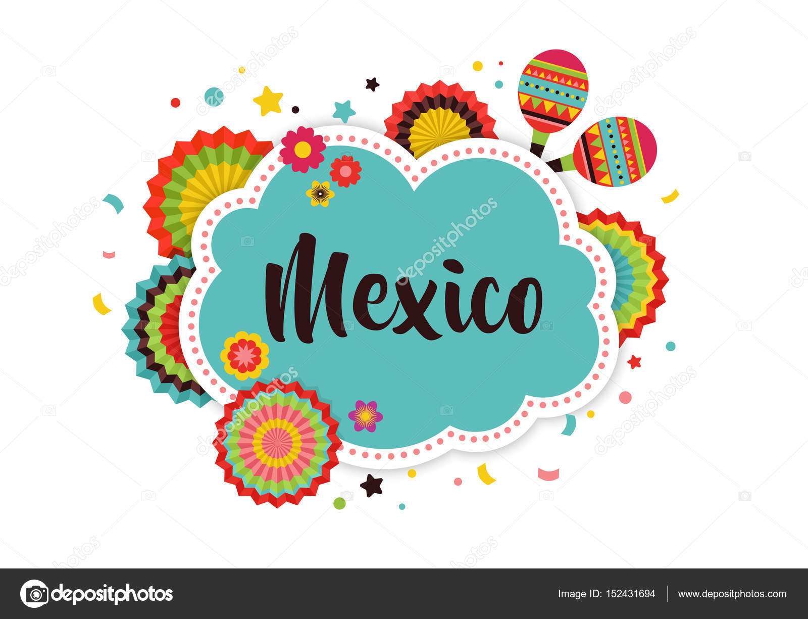 mexican fiesta background stock vector marish 152431694 rh depositphotos com