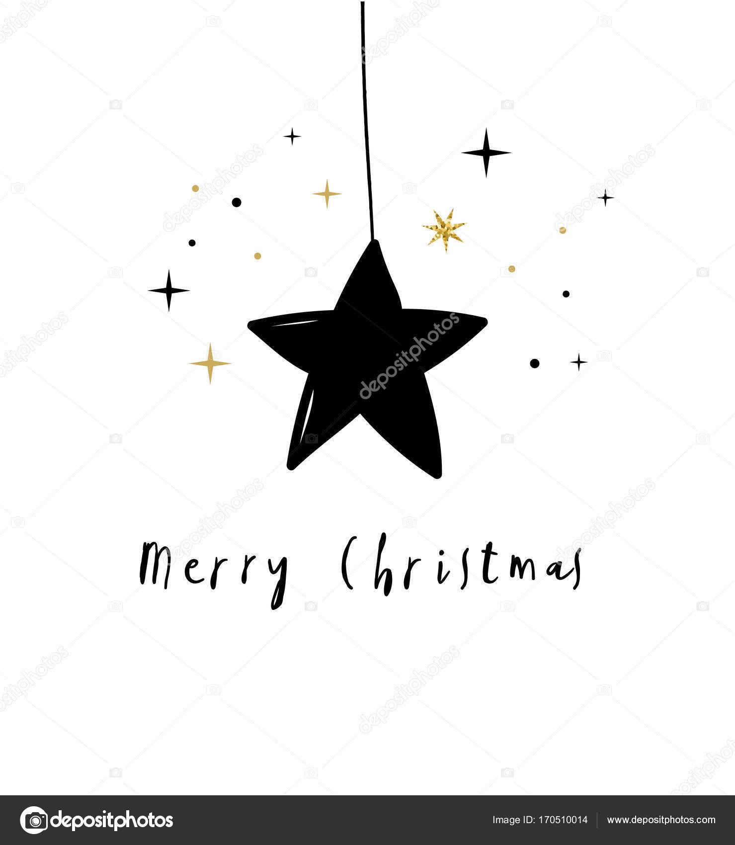 Stern Frohe Weihnachten.Frohe Weihnachten Mit Schwarzem Stern Stockvektor C Marish