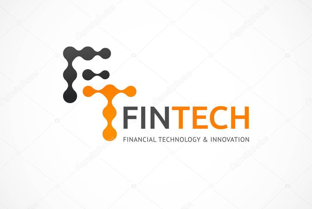 Logo innovative concept for fintech and digital finance ...