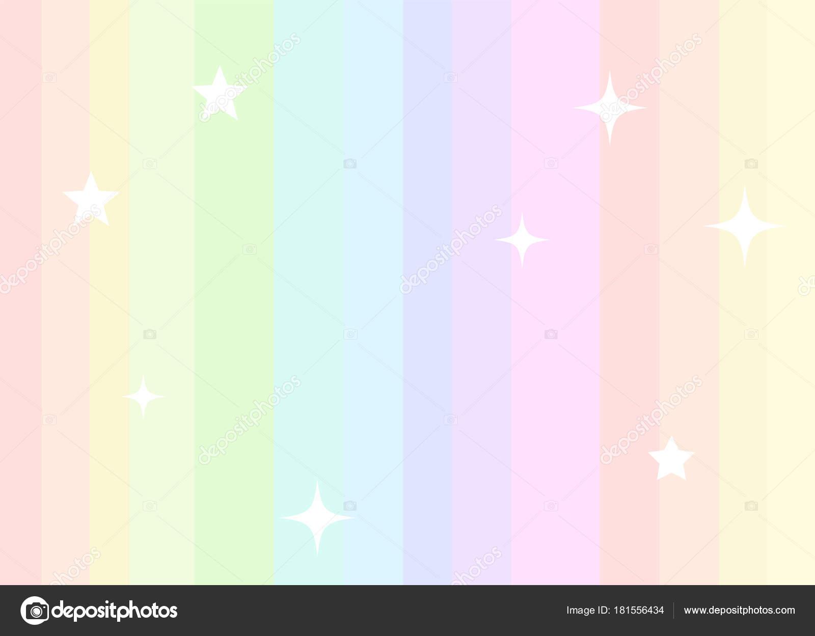 Fondo De Unicornio Con Arcoiris En Colores Pastel Vector
